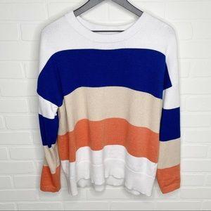 Boutique color block sweater size large L